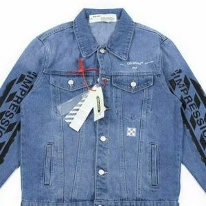 Off-White Denim Jacket size L NWT